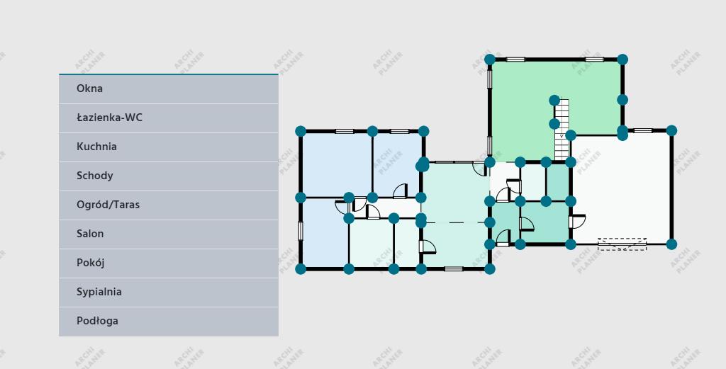dodanie mebli na plan mieszkania
