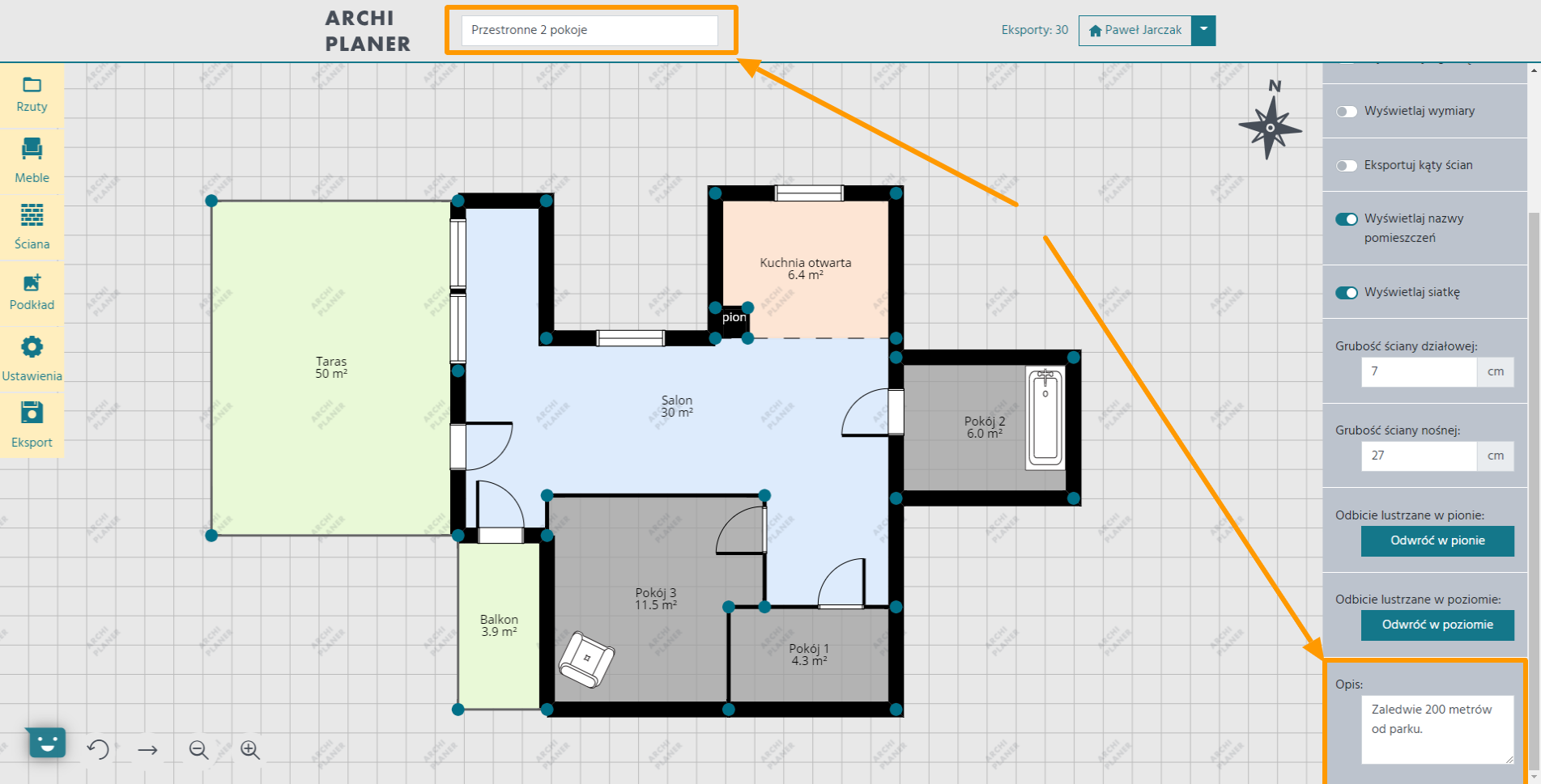 opisujemy rzut mieszkania dostępny na portale nieruchomości