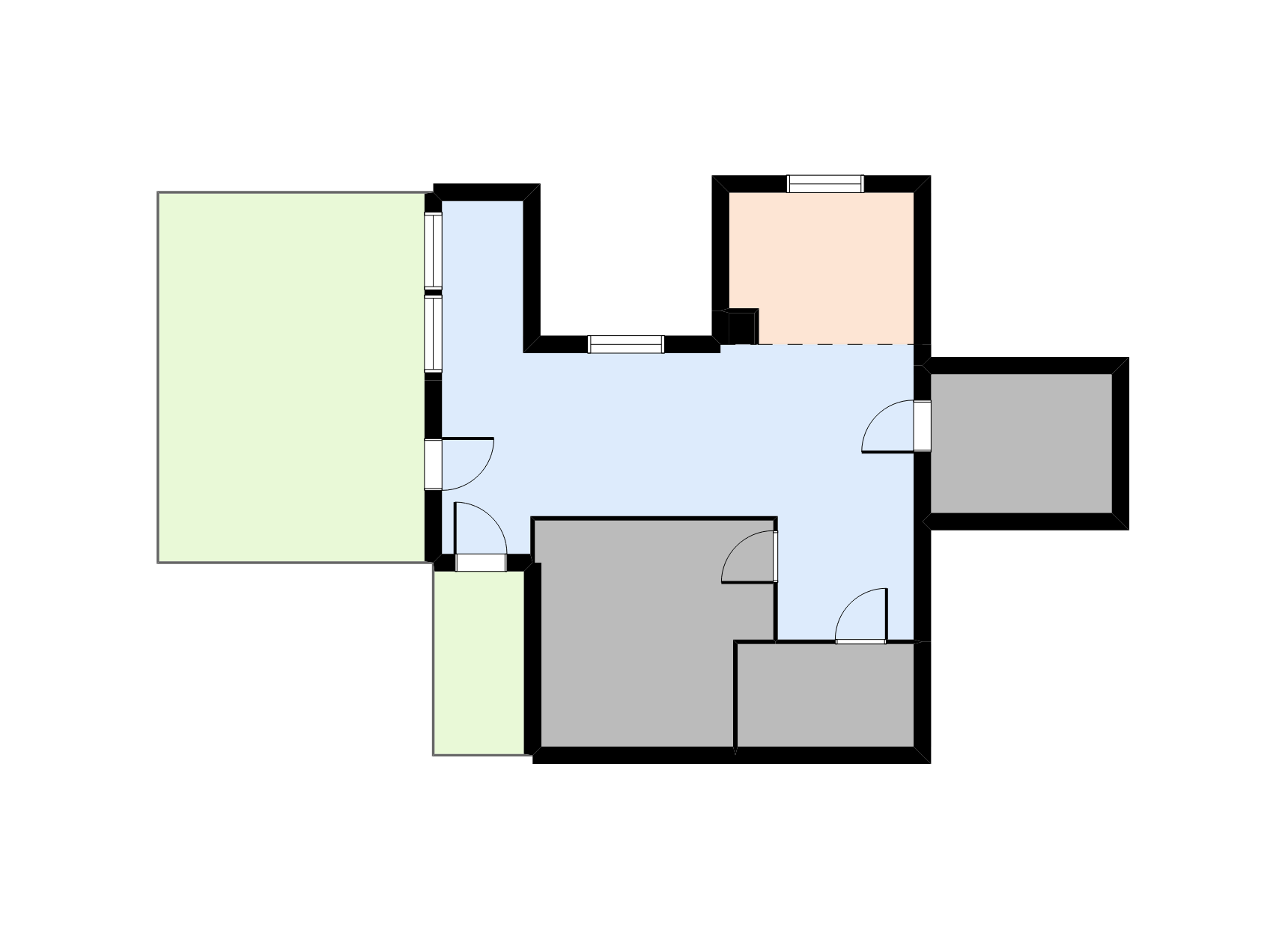 przykład wygenerowanego planu mieszkania w programie do rzutów