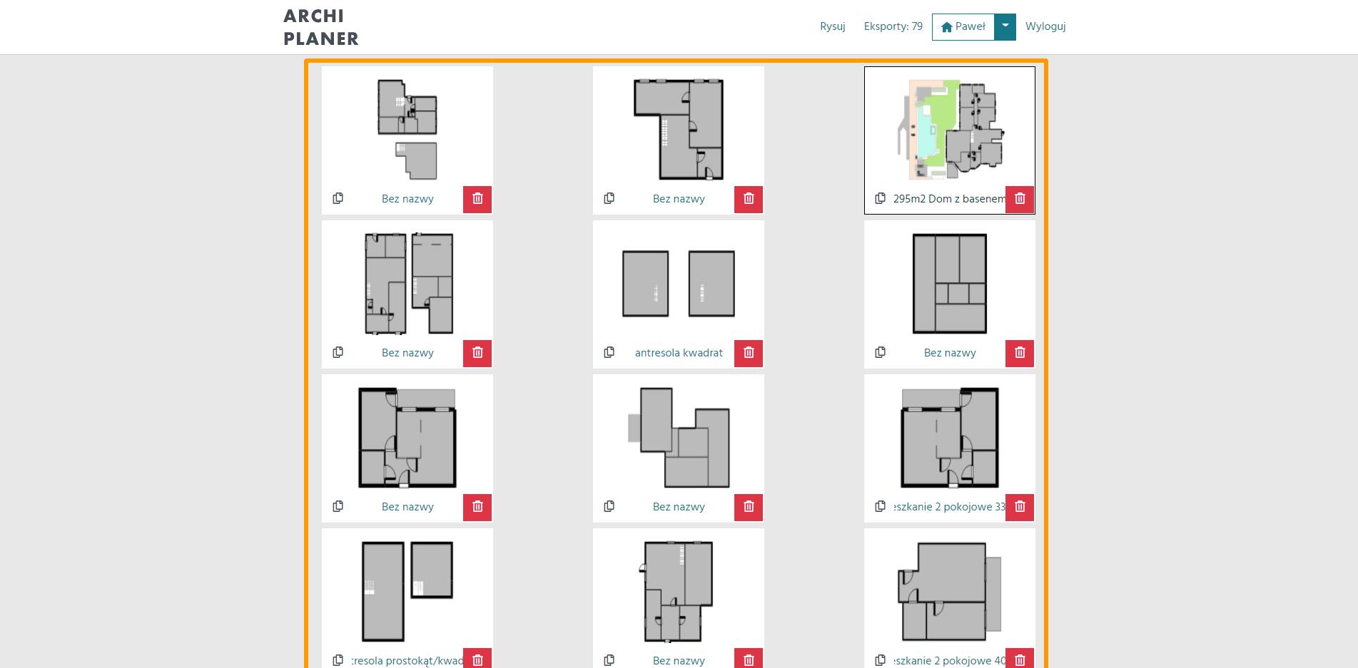 dostęp do konta w programie do rzutów mieszkań
