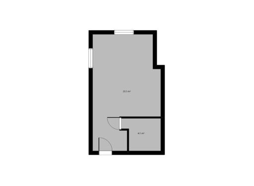 1 pokojowy rzut mieszkania 27 metrów