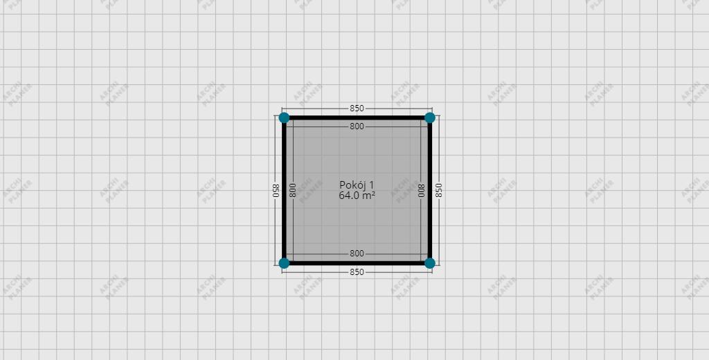 siatka ułatwiająca rysowanie planu mieszkania