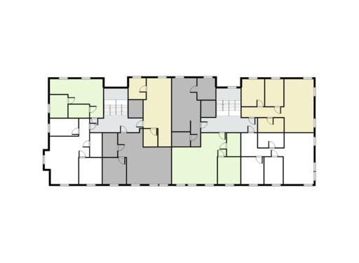 rzut mieszkania w bloku