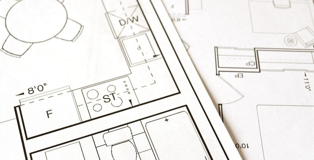 najpierw obrys planu mieszkania