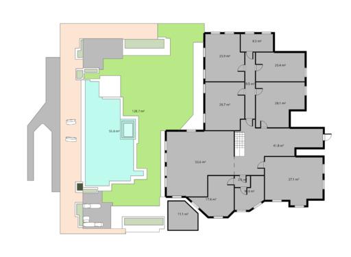 1 pokojowy rzut mieszkania 34 metry